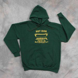feb351beb Hot Dog Johnny's Green Adult Hooded Sweatshirt